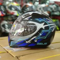 Helm Zeus Z806 ii58 Full Face Double Visor Matt Black / Blue Original