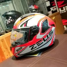 Helm Zeus Z811 AL3 Neon Full Face Orange / Black Original