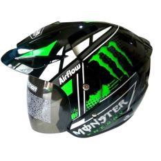 Helmet Club Bola Sudah SNI Warna Hitam List Hijau