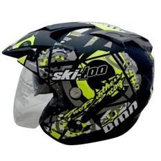 [Promo Best Seller] Helmet Double Visor (2 kaca) SKI Doo B-Doff - Kuning Kualitas Setara helm KYT INK GM WTO MSR BMC NHK