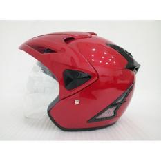 Promo Helmet V27 Polos Red Magnum Vt L Murah