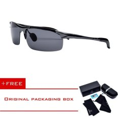 HEPIDEM 2017 New Men Aluminum Polarized Sunglasses Sports Outdoor Cycle Sunglasses Women Mirror Fishing Driving Night Vision Cycling Cool Sun Glasses with original box case H8177