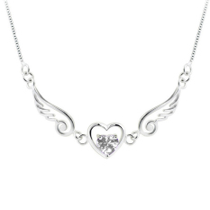 Hequ Dream Angels Wings Of Love Hearts Kalung (Putih)