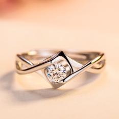 Hequ Jantung Angel Ciuman Cincin 925 Sterling Silver White Emas Plated Cincin Pernikahan untuk Wanita, China Engagement Ring