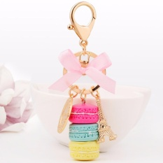 Hequ Hot sell Keychain Bag Charms France LADUREE Macarons Effiel Tower Lover Mothers Christmas X mas Gifts