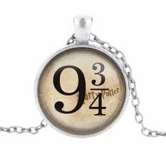 Hequ Baru Chic dan Kualitas Tinggi Panas Campuran Perhiasan Harry Potter 9 And Three Perempat Kali Kaca Diamond Sweater On Kalung Rantai Perunggu-Internasional