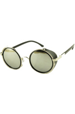 Jual Hequ Retro Steam Punk Round Sunglasses Sisi Perak Mercury Hequ Branded