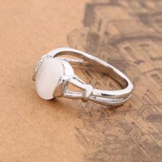 Hequ Twilight Bella Cincin Berlapis Perak dengan Opal Cincin Bagian 3222-Intl