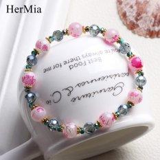 Nya Mia Handmade DIY Beads Gelang untuk Wanita Lucky Bead Pesona Perhiasan Gelang (Warna 1)-Intl