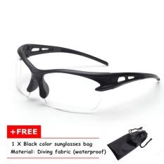 Nya Mia Pria Fashion Terpolarisasi Luar Ruangan Kacamata Berkendara Mobil Mengemudi Kacamata Hitam 100% UV400 Terpolarisasi Goggle Style Eyewear Cermin Mata Hitam (NO 6) -Intl