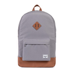Herschel Heritage Classic Backpack - Abu-abu-Tan Synthetic Leather