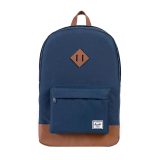 Jual Herschel Heritage Classic Backpack Navy Tan Synthetic Leather Di Indonesia