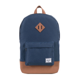 Harga Herschel Heritage Mid Volume Classic Backpack Navy Tan Synthetic Leather Asli Herschel