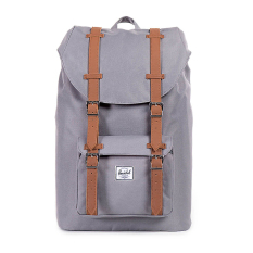Jual Herschel Little America Mid Volume Classic Backpack Abu Abu Tan Synthetic Leather Online