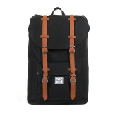 Herschel Little America Mid Volume Classic Backpack Hitam Tan Synthetic Leather Indonesia Diskon