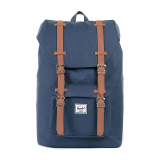 Beli Herschel Little America Mid Volume Classic Backpack Navy Tan Synthetic Leather Baru