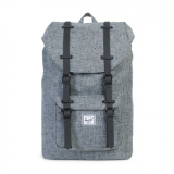 Herschel Little America Mid Volume Classic Backpack Scattered Raven Crosshatch Black Rubber Murah