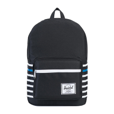 Harga Herschel Pop Quiz Backpack Black Offset Stripe Original
