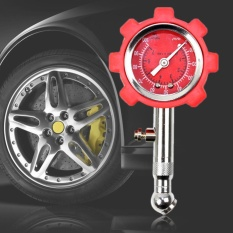 Presisi Tinggi Tekanan Ban Mobil Monitor Pneumatik Alat Pengukur Tekanan Ban (Merah)-Intl