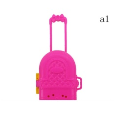 High Quality 2 Pcs Cute Travel Suitcase Luggage Case Trunk For Girl Doll House Gift A1 - intl