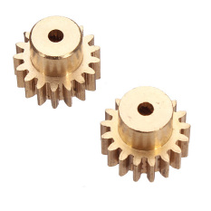 Harga High Quality 2Pcs Motor Gear For Wltoys A949 A959 A969 A979 390 Motor 17T Gear Rc Car Glod Intl Yang Murah
