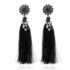 Kualitas Tinggi Jaket Bomber ASTAR untuk Wanita, China Anting-Anting Modis Perhiasan Trendi Rumbai Berlian Imitasi Anting-Anting Pesona pernikahan Hadiah-Internasional