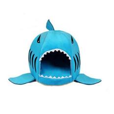 Kualitas Tinggi Abu-abu Shark Bed For Anjing Kucing Kecil Gua Tempat Tidur Ini Akan Mengangkat Cushion, Tahan Terhadap Udara Bawah Paling Indah PET House Gift For PET Skyblue-Intl
