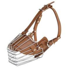 Spesifikasi Kulit Berkualitas Tinggi Steel Dog Moncong Cage Silver Brown Intl Lengkap