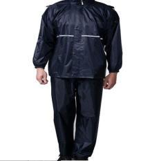Harga High Quality Motorcycle Waterproof Rain Coat Jas Hujan Size Xxl Black