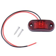 Berkualitas Tinggi Baru 2 Pcs Piranha Peralatan Penanda Sisi Lampu LED Lampu untuk Review Mobil Truk Trailer 12/24 V Amber Hot Selling (Merah)
