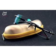 TINGGI KUALITAS Rimless Frameless Tuan-tuan Lapisan Antireflective Non Bulat Kacamata Baca + 2.00