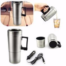 High Quality Stainless Steel Car Mug Charger / Termos Gelas Mobil Portable Hangat dan Panas