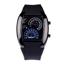 Harga Tinggi Kualitas Store Baru Rpm Turbo Flash Putih Biru Lampu Led Mobil Meter Watch Jam Tangan Pria Lengkap