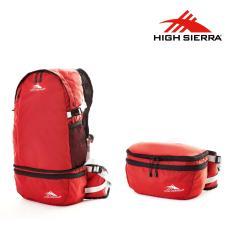 High Sierra Tas Packable 2-In-1 Backpack Waist Pouch - Merah