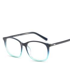 Hindfield 8121 Transparan Kacamata Bingkai Wanita Merek Desain Retro Unisex Resep Flat Mirror Fashion Siswa Kacamata-Intl