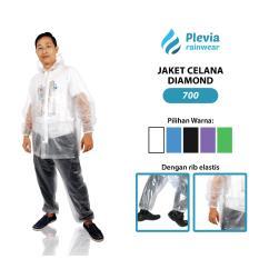 Ulasan Hitam Jas Hujan Plevia Tranparan Jaket Baju Celana Polos Diamond Setelan Stelan Pria Wanita Raincoat Transparent