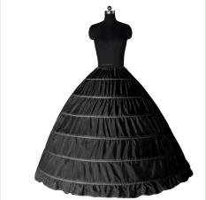Spesifikasi Hitam Menunjukkan Lingkaran Kawat Baja Petticoat Mempelai Wanita Gaun Pengantin Gaun Murah Berkualitas