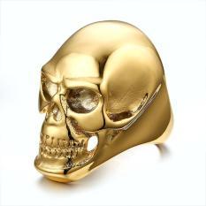 Jual Hitam Punk Skeleton Ring Datang Gothic Biker Pria Titanium Steel Cincin Fashion Skull Cool Man Finger Ring Internasional Unknown Branded