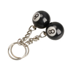 HKS Billiard Pool Keychain Snooker Meja Ball Key Ring Gift Lucky No.8
