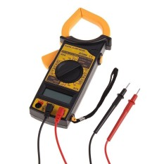 HKS Portabel AC DC Tegangan LCD Digital Clamp MultimeterElectronicTester-Intl