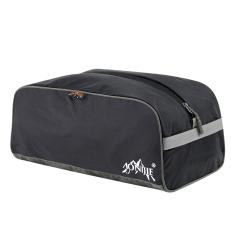HKS Travel Shoe Storage Bag Waterproof Sepatu Outdoor Portable Folding Olahraga Pria dan Wanita Sepatu Besar Tas Tas Bekas Tiga Set Hitam-Intl