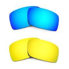 Hkuco Mens Penggantian Lensa untuk Gascan Biru/24 K Emas Kacamata-Intl