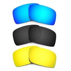 Hkuco Mens Replacement Lenses For Gascan Blue/Black/24K GoldSunglasses