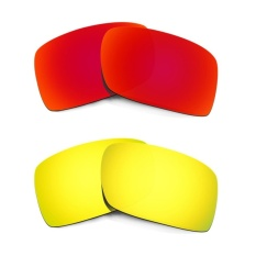 Hkuco Mens Replacement Lenses For Gascan Red/24K Gold Sunglasses