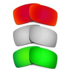 Hkuco Mens Replacement Lenses For Gascan Red/Titanium/Emerald GreenSunglasses