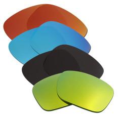 Hkuco Mens Penggantian Lensa untuk Model Holbrook Merah/Biru/Hitam/24 K Emas Kacamata-Intl