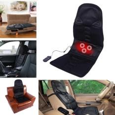 HLL Black Comfortable Car Seat Massage Cushion Heated Mat Massager Usplug