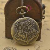 Diskon Hogwarts Lencana Sekolah Harry Potter Pocket Watch Quartz H Fob Watches Pria Dengan Rantai Kalung Perunggu Wanita Vintage Intl Tiongkok