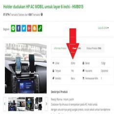 Holder Dudukan Hp Untuk Dashboard Ac Mobil Size 6 Inch - Hmb015