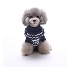 Liburan Meriah Natal Xmas Akrilik Peliharaan Sweter untuk Anjing Natal Kostum MYD01 Biru S Warna: MYD013 Biru Ukuran: m-Internasional